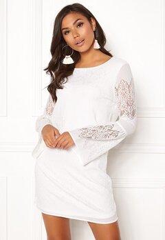 ONLY Bella New Lace L/S Dress Cloud Dancer Bubbleroom.se