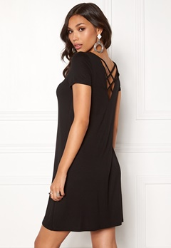 ONLY Bera Back Lace S/S Dress Black Bubbleroom.se