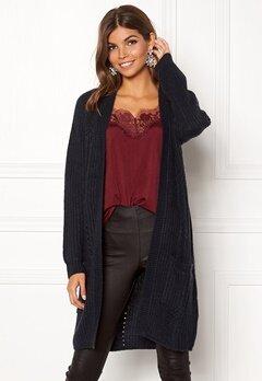 ONLY Bernice L/S Cardigan Knit Night Sky Melange Bubbleroom.se