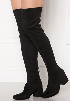 ONLY Billie Long Heeled Boot Black Bubbleroom.se
