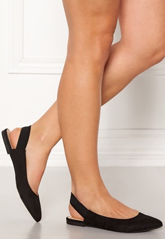 ONLY Blondie Heel Ballerina Black Bubbleroom.se