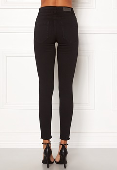 ONLY Blush Mid Ank Raw Jeans Black Denim Bubbleroom.se