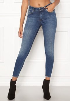 ONLY Blush Mid Ank Raw Jeans Dark Blue Denim Bubbleroom.se