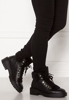 ONLY Bold PU Fur Winter Boot Black Bubbleroom.se
