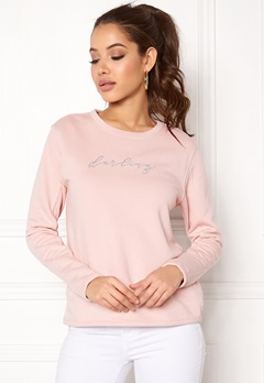 ONLY Brianna L/S Crop Sweat Sepia Rose Bubbleroom.dk