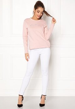 ONLY Brianna L/S Crop Sweat Sepia Rose Bubbleroom.se