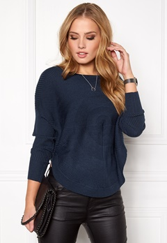 ONLY Bridget l/s Pullover Knit Black Iris Bubbleroom.no