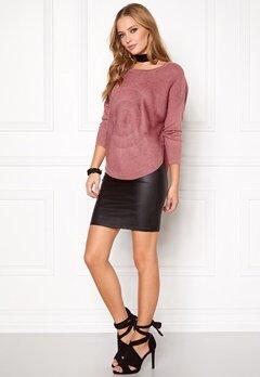 ONLY Bridget l/s Pullover Knit Mesa Rose Bubbleroom.se