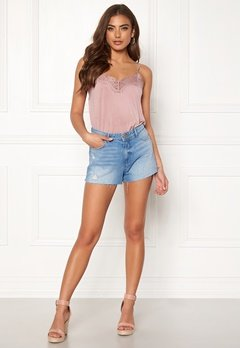 ONLY Cardi Denim Shorts Light Blue Denim Bubbleroom.se