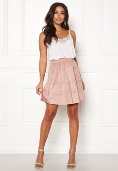 ONLY Carma Faux Suede Skirt Adobe Rose Bubbleroom.se