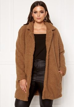 Only Carmakoma Aura Sherpa Coat Toasted Coconut Bubbleroom.se