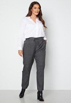 Only Carmakoma Goldtrash Soft Check Long Pant Black Checks bubbleroom.se