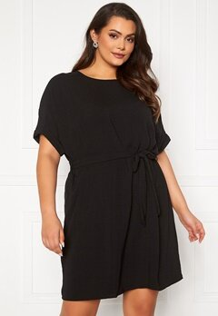 Only Carmakoma Jackie S/S Knee Dress Black Bubbleroom.se