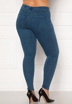 Only Carmakoma Storm Push Up HW SK Jeans Medium Blue Denim Bubbleroom.se