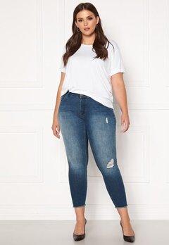 Only Carmakoma Willy Reg Skinny Ank Jeans MBD Medium Blue Denim Bubbleroom.se