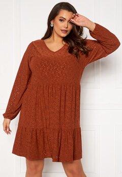 Only Carmakoma Zabby LS Knee Dress Arabian Spice Bubbleroom.se