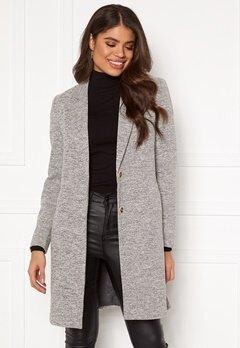 ONLY Carrie Mel Coat Light Grey Melange Bubbleroom.se