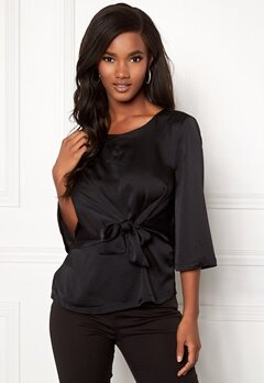 ONLY Casey 3/4 Tie Top Black Iris Bubbleroom.se