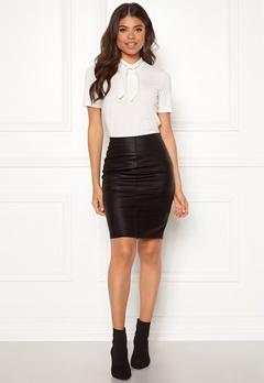 ONLY Celina Faux Leather Skirt Black Bubbleroom.se