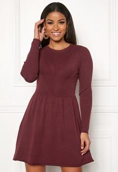 ONLY Chanette l/s Dress Tawny Port Bubbleroom.se