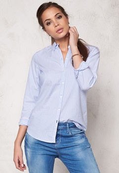 ONLY Cici L/S Oxford Shirt Blue Bell Bubbleroom.no