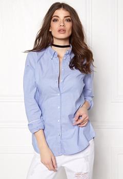 ONLY Cici LS Oxford Shirt Blue Bubbleroom.se