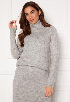 ONLY Cille L/S Rollneck Pullover Ligth Grey Melange Bubbleroom.se