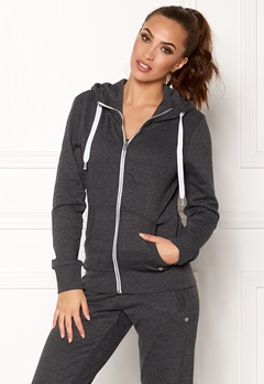 ONLY Coolie LS Zip Hood Dark grey Melange Bubbleroom.fi
