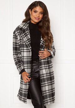 ONLY Dajana Check Wool Coat OTW Black Bubbleroom.se
