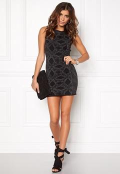 ONLY Dasia S/L Dress Black Bubbleroom.fi