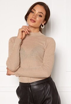ONLY Diana Lurex L/S Top Frosted Almond Bubbleroom.se