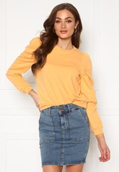 ONLY Dida L/S Puff Sweat Buff Yellow Bubbleroom.se