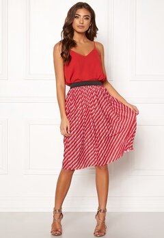 ONLY Disco Skirt High Risk Red Bubbleroom.se