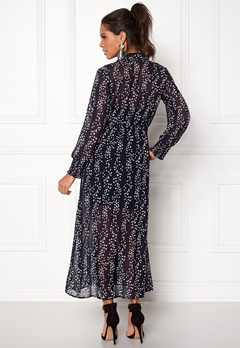 ONLY Ditte L/S Calf Dress Night Sky Bubbleroom.se