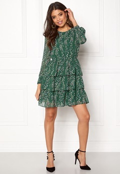 ONLY Ditte L/S Layred Dress Posy Green Bubbleroom.se