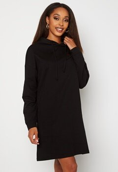 ONLY Dreamer Life Sweat Hood Dress Black Bubbleroom.se