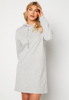 ONLY Dreamer Life Sweat Hood Dress Ligth Grey Melange Bubbleroom.se