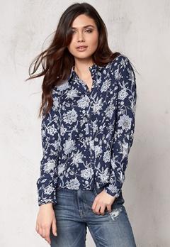 ONLY Eleonora l/s Lace Shirt Blue Bubbleroom.se