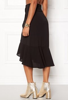 ONLY Ella Flounce Skirt Black Bubbleroom.se