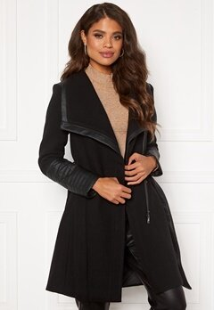 ONLY Elly Mix Wool Coat Black Bubbleroom.se