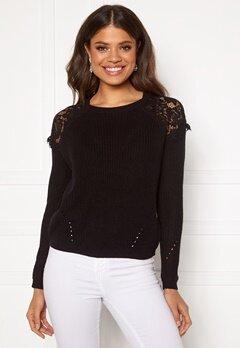 ONLY Elrosa L/S Lace Pullover Black Bubbleroom.se
