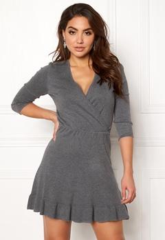 ONLY Elsa 3/4 Dress Medium Grey Melange Bubbleroom.se