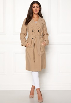 ONLY Emilia Long Trenchcoat Incense Bubbleroom.se