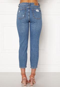 ONLY Emily HW  Crop Jeans Medium Blue Denim Bubbleroom.se