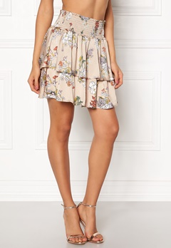 ONLY Eva Layered Skirt Feather Gray Bubbleroom.se