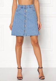 ONLY Farrah Reg Denim Skirt Light Blue Denim Bubbleroom.se