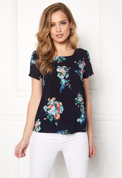 ONLY First ss Mix Top Night Sky/Flowers Bubbleroom.fi
