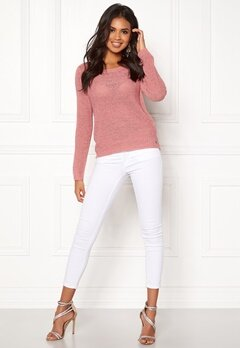 ONLY Geena L/S Pullover Blush Bubbleroom.fi