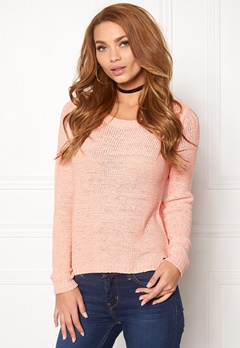 ONLY Geena L/S Pullover Peachy Keen Bubbleroom.eu
