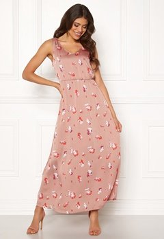 ONLY Giza S/L Maxi Dress Adobe Rose Bubbleroom.se